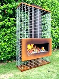 metal outdoor fireplace modern with gauze contemporary fire chi metal outdoor fireplace