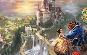 oil paintings of 8 beauty and the beast part4 thomas kinkade art thomas kinkade beauty and