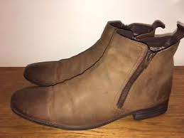 Details About Clarks Mens Chart Zip Tobacco Suede Ankle Boots Sz 10 G Dealer Chelsea