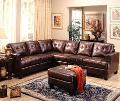 l shaped brown leather sectional u bonded sofa contemporary shape home improvement