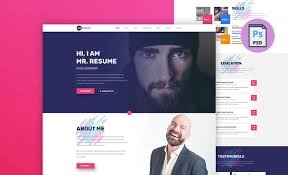 Mr Resume Free One Page Resume Template Resummmecom