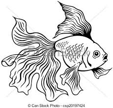 gold fish clip art black and white.  Gold Goldfish Black White  Csp20197424 Intended Gold Fish Clip Art Black And White Can Stock Photo