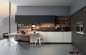 Kitchen:Modern Kitchen, Twin Islands, Marble Bench Top Fancy And Sleek  Modern Kitchen