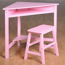 corner desk set pink with chair