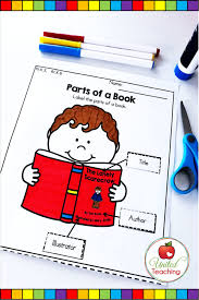 Parts Of A Book Anchor Charts And Activities United Teaching