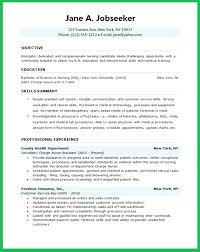 Student Nurse Resume Inspiration Nurse Resume Objective Nursing Student Resume School Nurse Resume