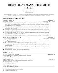 Waiter Sample Resume Resume Sample For Waiter Position Inspirational