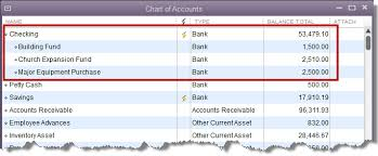 Multiple Funds In One Bank Account Experts In Quickbooks