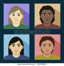 four diffe race features white african asian latino s women without