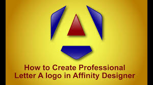 how to create professional letter a logo in affinity designer how to create professional letter a logo in affinity designer