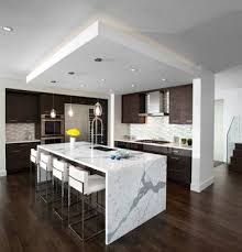Kitchen Waterfall Island - modern - kitchen - vancouver - Meister  Construction Ltd