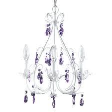 purple chandelier argos lighting crystal