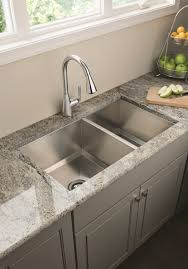 ... Kitchen Sink Ideas Styles Pictures Double Sink Kitvhen Idea Grey  Cabinet And Floor: ...