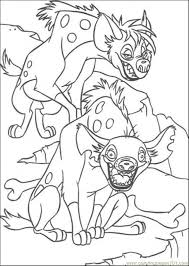 Small Picture Hyena Coloring Page Free The Lion King Coloring Pages