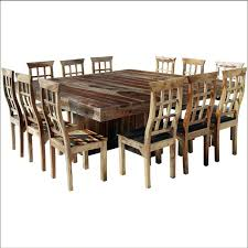 round table with chairs that fit under ranch square pedestal large dining table chair set wow