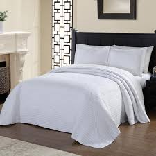 american traditions french tile quilted white queen bedspread