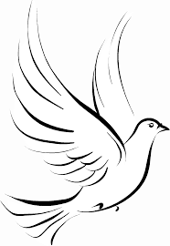 doves clipart black and white. Delighful Black Cross And Dove Clipart  Kid For Doves Black White C