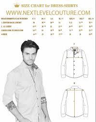 Size Chart Dress Shirt Men Bertigo Men Dress Shirt Measurement
