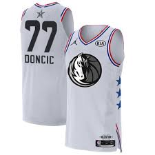 Men's Luka 2019 Doncic White Jersey Authentic 2 77 Dallas Basketball Sale All-star Mavericks Game