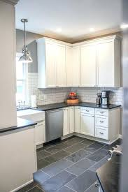 white and grey kitchen ideas inspiring grey kitchen floor tiles with black white kitchen backsplash ideas