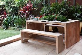 build a timber outdoor table