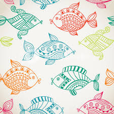Fish Pattern Mesmerizing Fish Pattern In Abstract Style Copy Square To The Side And You'll