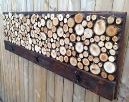 custom made rustic wood coat rack towel rack