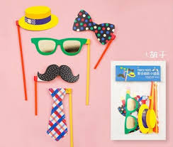 Mask Decorating Supplies 100set Lovely Funny Wedding Photography Props Party Decorations 48
