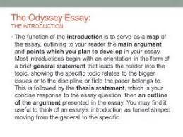 essay thesis statement odyssey essay thesis statement