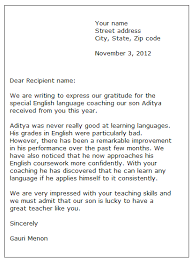 sample of how to write a thank you letter sample thank you letter