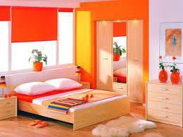 orange bedroom colors. Orange Bedroom Color Ideas With Light Wooden Flooring And Furniture Colors
