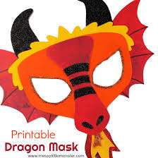 They are just holding out to be discovered and printed. Chinese Dragon Mask A Fun Printable Dragon Craft Messy Little Monster