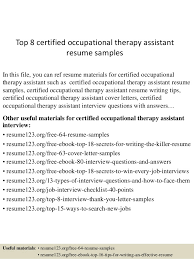 Certified Occupational Therapy Assistant Sample Resume Unique Occupational Therapy Sample Resume Kenicandlecomfortzone