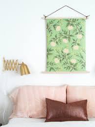 diy wallpaper wall hanging