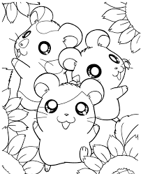 Cute Hamster Coloring Pages Az Pictures To Print Litle Pups