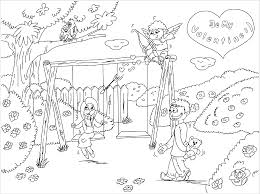 Playground Scene Coloring Page Coloring 2