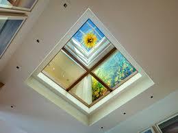 skylight lighting. lake house glass floor skylight lighting o