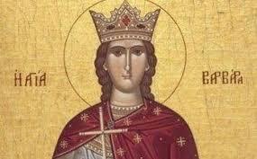 Αγία ειρήνη χρυσοβαλάντου (αρτέμιδα αττικής). 8ayma Agias Barbaras O Akrwthriasmos Poy Apofeyx8hke Bhma Or8odo3ias