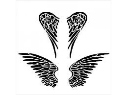 šablona 6x6 Andělská Křídla Mini