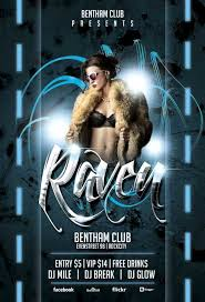 Club Flyer Templates Free Free Raven Club Flyer Template Awesomeflyer Com
