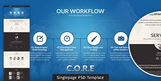 Psd Website Templates Delectable CORE Multipurpose Single Page PSD Template By BuddhaThemes