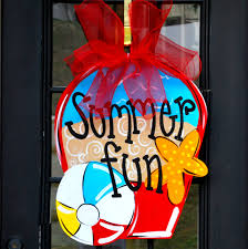 Decorative Door Hangers Summer Wreath Beach Wreath Beach Signs Beach Decor