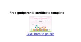 Free Godparents Certificate Template Google Docs