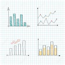Positive Line Graph And Bar Chart Vectors