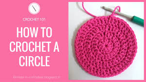 Crochet Circle Pattern Stunning How To Crochet A Circle Easy Double Crochet Circle YouTube