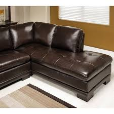 Abbyson Living Tekana 2 Piece Leather Sectional in Dark Brown CI