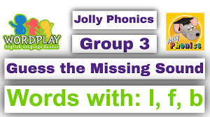 The system of jolly phonics is most commonly used in british curriculum schools. Jolly Phonics Group 3 Words L F B Guess The Missing Sound Youtube