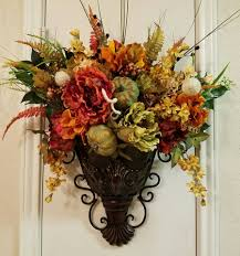 Bronze Wall Decor Elegant Fall Sconce Floral Wall Sconce Thanksgiving Sconce