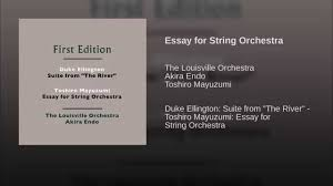 essay for string orchestra