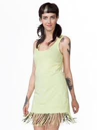 Mojito Fringe Tank Dress